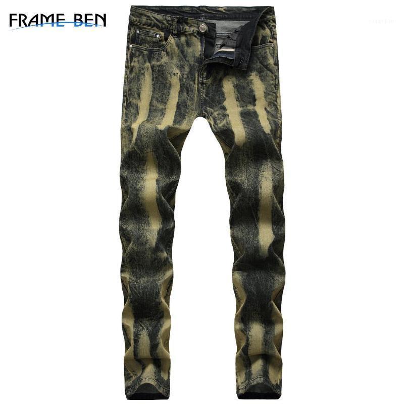 Ben erkekler kot 2019 streç erkek pantolon gelgit kot erkek altın erkekler sıska pantolon giysi hiphop karanlık1