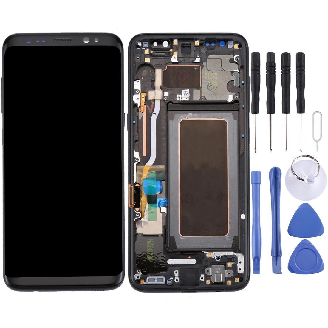 Ecran LCD d'origine d'origine écran tactile avec cadre pour Galaxy S8 G950 G950F G950FD G950U G950A G950P G950T G950V G950R4 G950W G