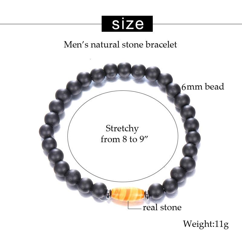 Factory Price 2019 браслет новая мода 6mm модный матовый гладкий простые классические бисерные браслеты с натуральным камнем для Wom