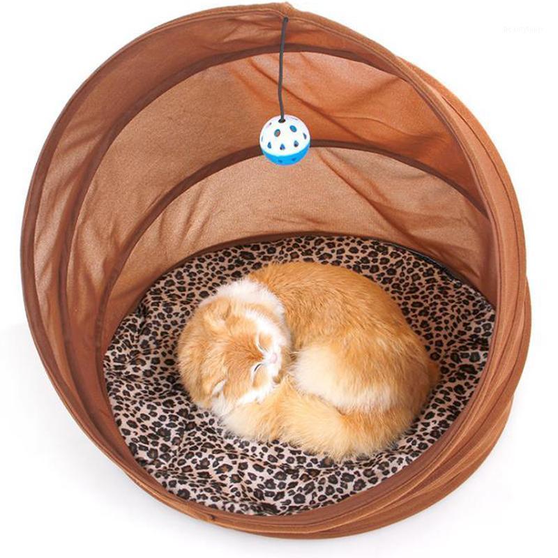 Collapsible Cat House Sofas Kätzchen Puppy Kennel Home mit abnehmbarer warmer Kissen Mat Spielen Ball Haustier Bett Produkte für alle Jahreszeiten1