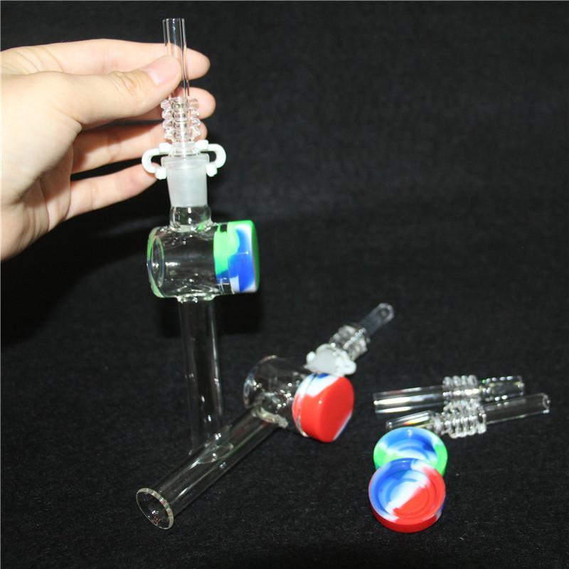 Atacado Hookahs Glass Rig Stick Mini Coletor de Néctar com Grosso Pyrex Clear Filter Dicas Teclas de Palha Tubos de Água