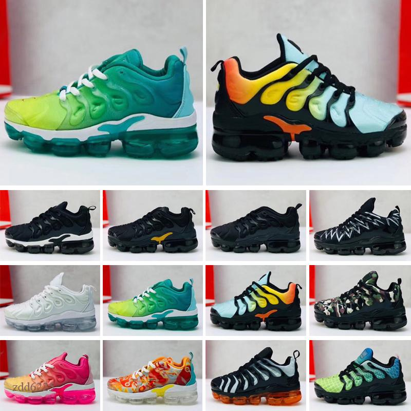 2021 toddler kids tn Breathable 2.0 Rainbow Mesh kids Sneakers tns Cushion children pour enfants Athletic sport Shoes Plus trainers