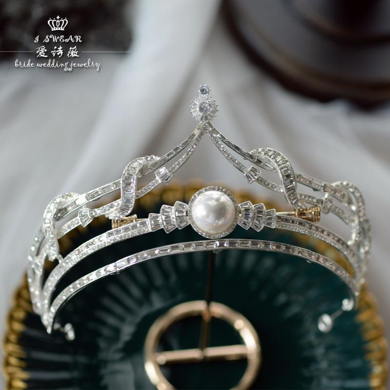 Aisiwei свадебных ювелирных Корейский изысканный простой творческий корону принцессы портрет Свадебный головной убор