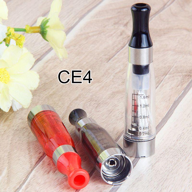 CE4 Atomizer Elektronik Sigara 1.6 ml Vape Kalem E CIGS 510 iplik için EGO T Akü Evod Pil E Sigara CE4 Buharlaştırıcı