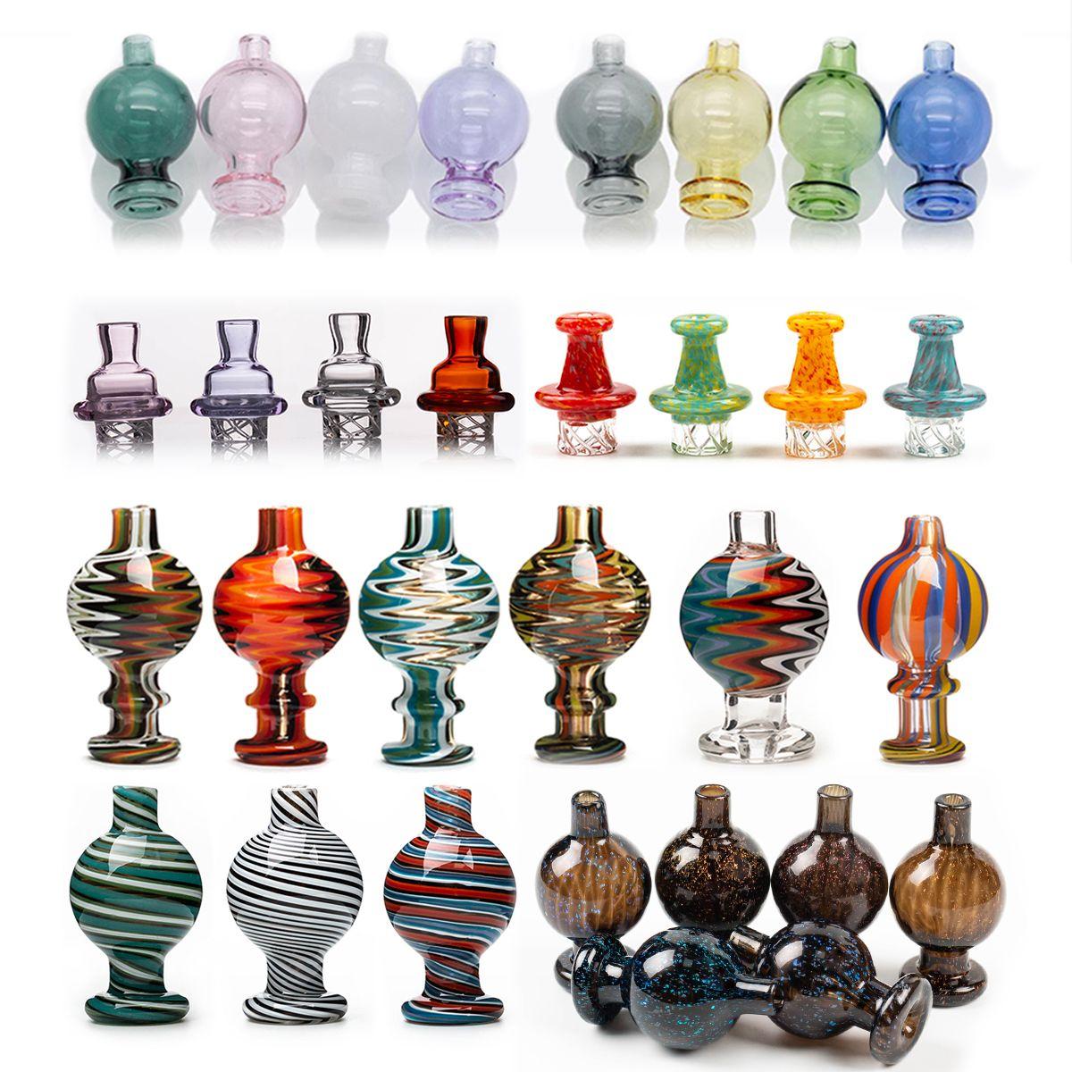 8 Art Bubble Ball Glas Carb-Kappe US Spinning-Carb-Kappe für OD 25mm Quarz-Banger Nail Dab Rig