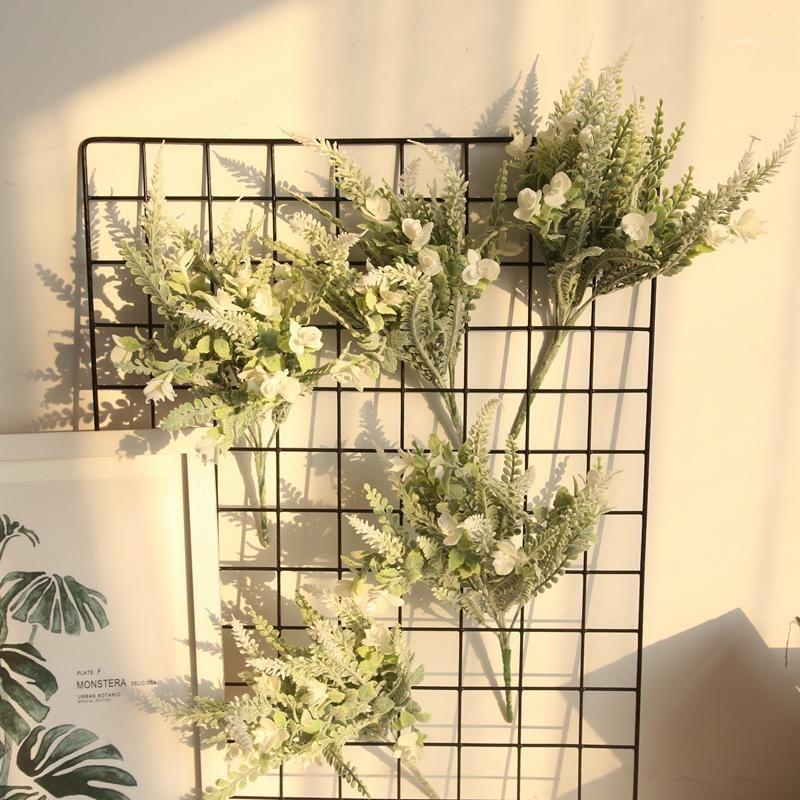 Navidad Planta artificial Ramo para decoración para el hogar Lavanda Plástico Falso Flower Wreath Autumn Body Party Decoration Hierba1