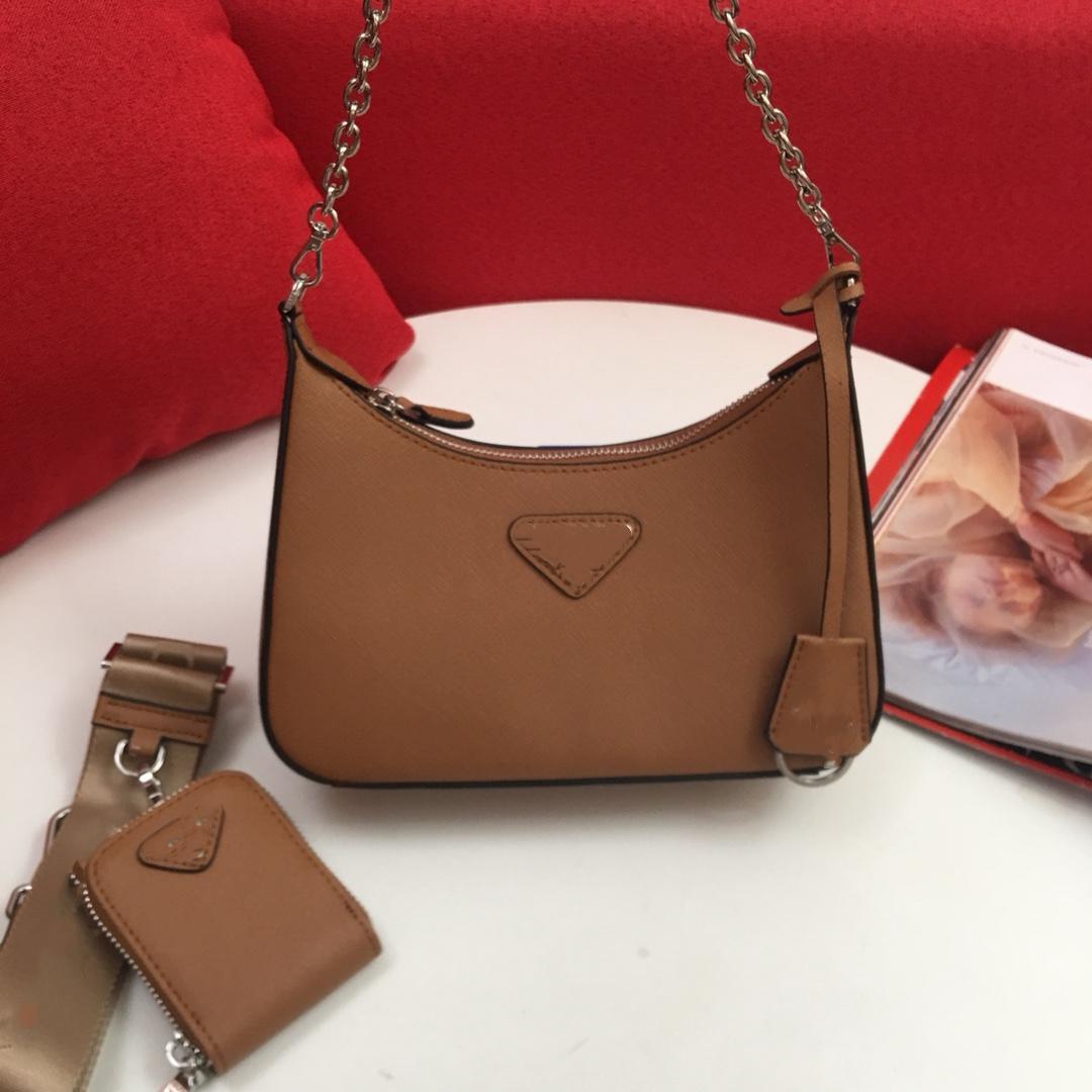 2021 luxurys designs bolsas de couro de quatro cores Padrão de palma do ombro mensageiro