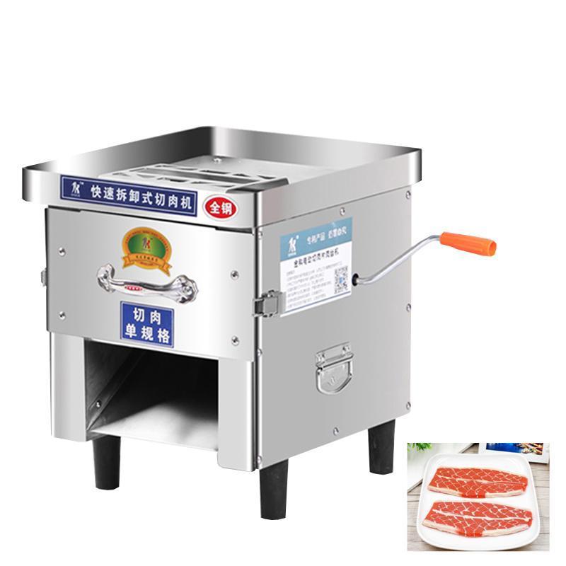 Малого электрического ручного двойного назначение Мясо Cutter машина выдвижной лезвия Shred Slicer Dicing машина коммерческого мясо Slicer