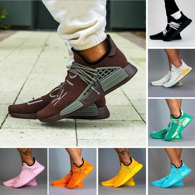 Fashion Extra eye hu pharrell williams nmd human sex men run shoes chocolate dash green solar pack النساء الرجال المدربين أحذية رياضية 36-47
