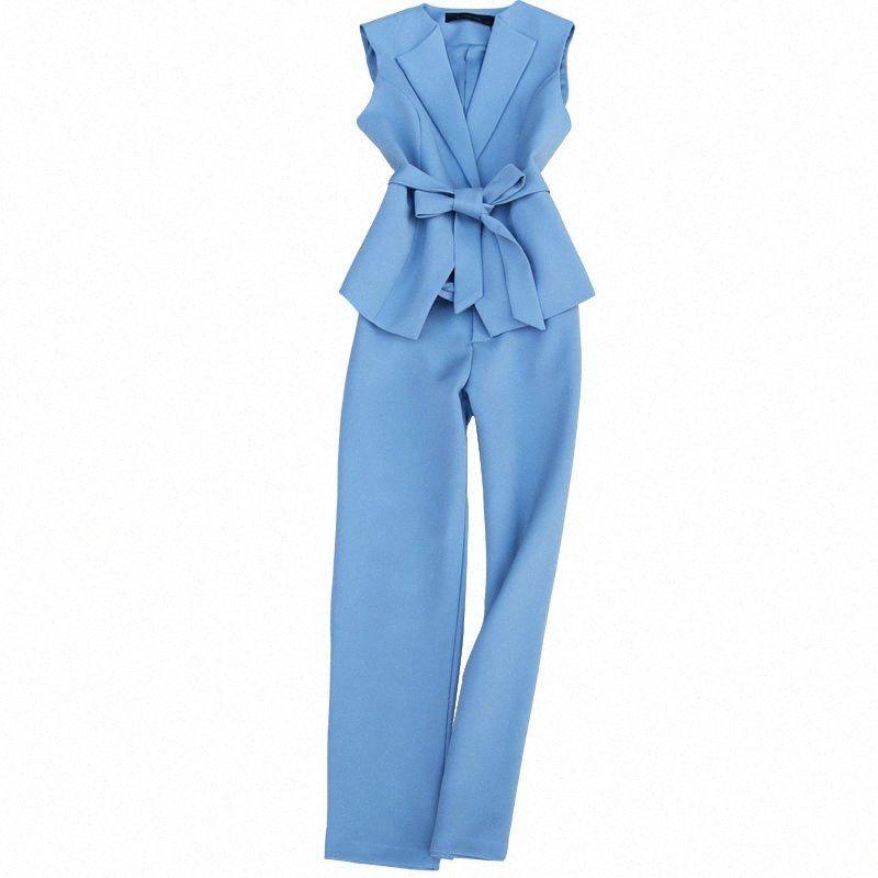 женщины потеют костюм набор пружинный новый мода темперамент коммутирующих тонкий шнурок костюм женщин жилет высокой талии обрезанные брюки 7sg1 #