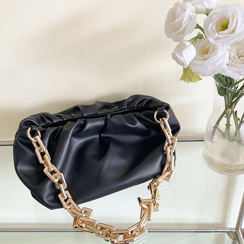 HBP Messenger Bag Bolsa Designer Bolsas Novo Designer Saco de Alta Qualidade Textura de Moda Moda Moda Bolsa De Ombro Cadeia Espessa Plissada