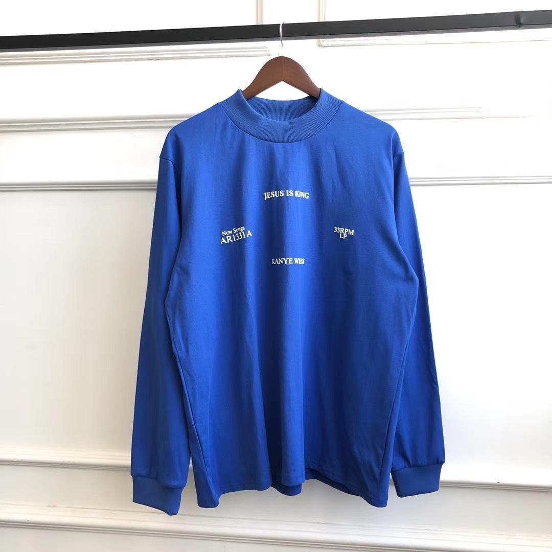 Kanye West Sunday Service Jesus ist King Tour O-Neck Übergroße Langarm T Shirts T-Shirts T-Shirts-Männer Frauen Baumwolle T-Shirt 1021