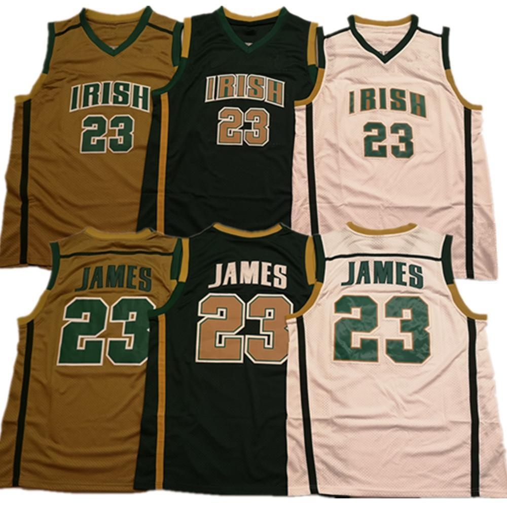 James Jersey St. Vincent Mary High School Irish 23 Lebron Maglie di basket uomo