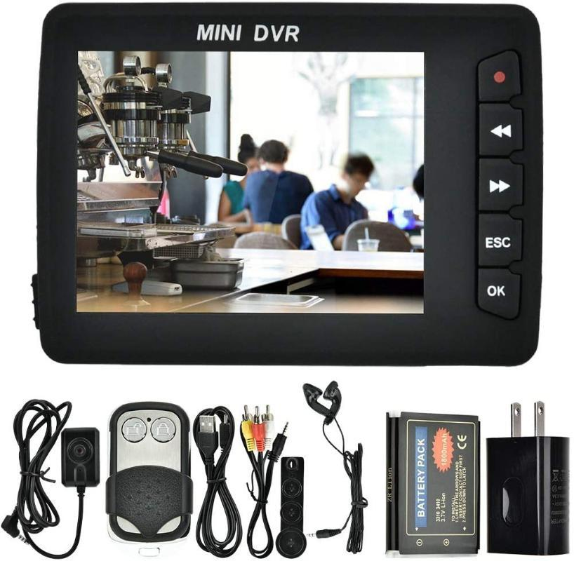 """미니 카메라 휴대용 비디오 레코더, 자동차 DVR Angel Eye 2.5 """"TFT 고화질 핀홀 버튼 카메라 W / Motion Dectector Cam"""