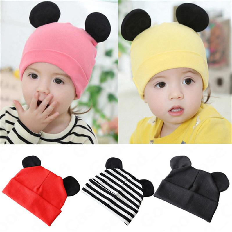 Infant Baby Cartoon Rabbit Ear Hat Newborn Kids Autumn Winter Cotton Skull Caps Fashion Outdoor Warm Hats Children Boy Girls Beanies F101601