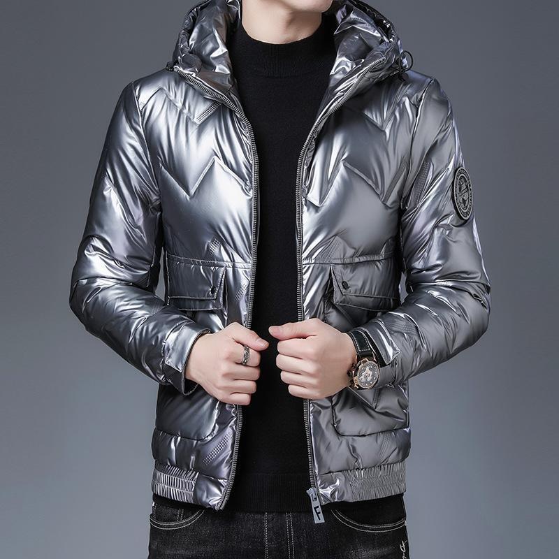 2020 winter new Korean youth handsome warm down jacket thick hooded casual jacket men's