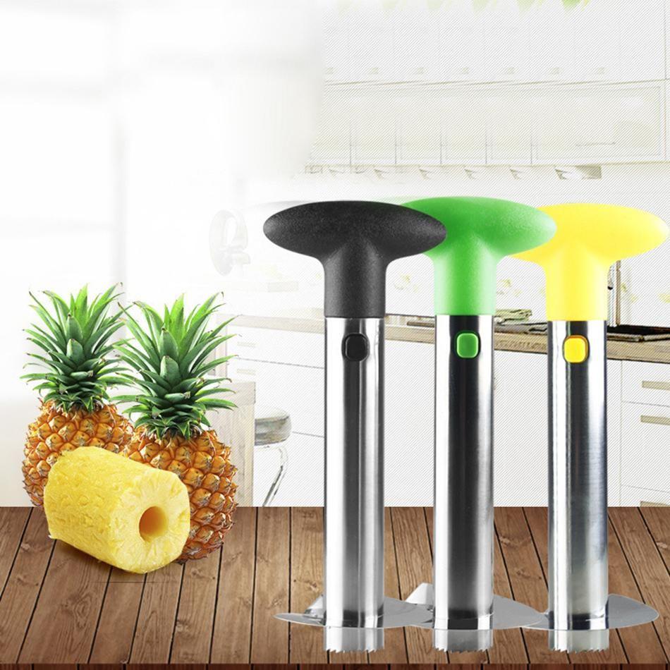 Heiße Verkäufe Edelstahl Ananas Peeler Frucht Corer Slicer Peeler Stiel Remover Cutter Ananas Slicers Kitchen Tool Kostenloser Versand