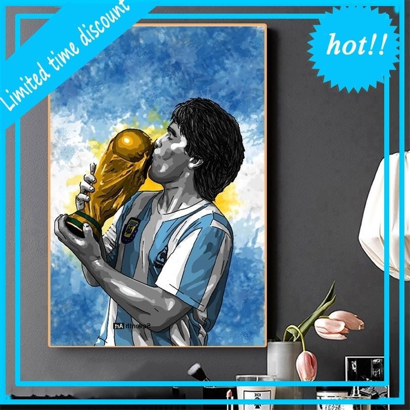 Diego Maradona Footballing Photo's La mano de Dios Póster en Prints Lienzo Art Wall Pintura Decoración del hogar