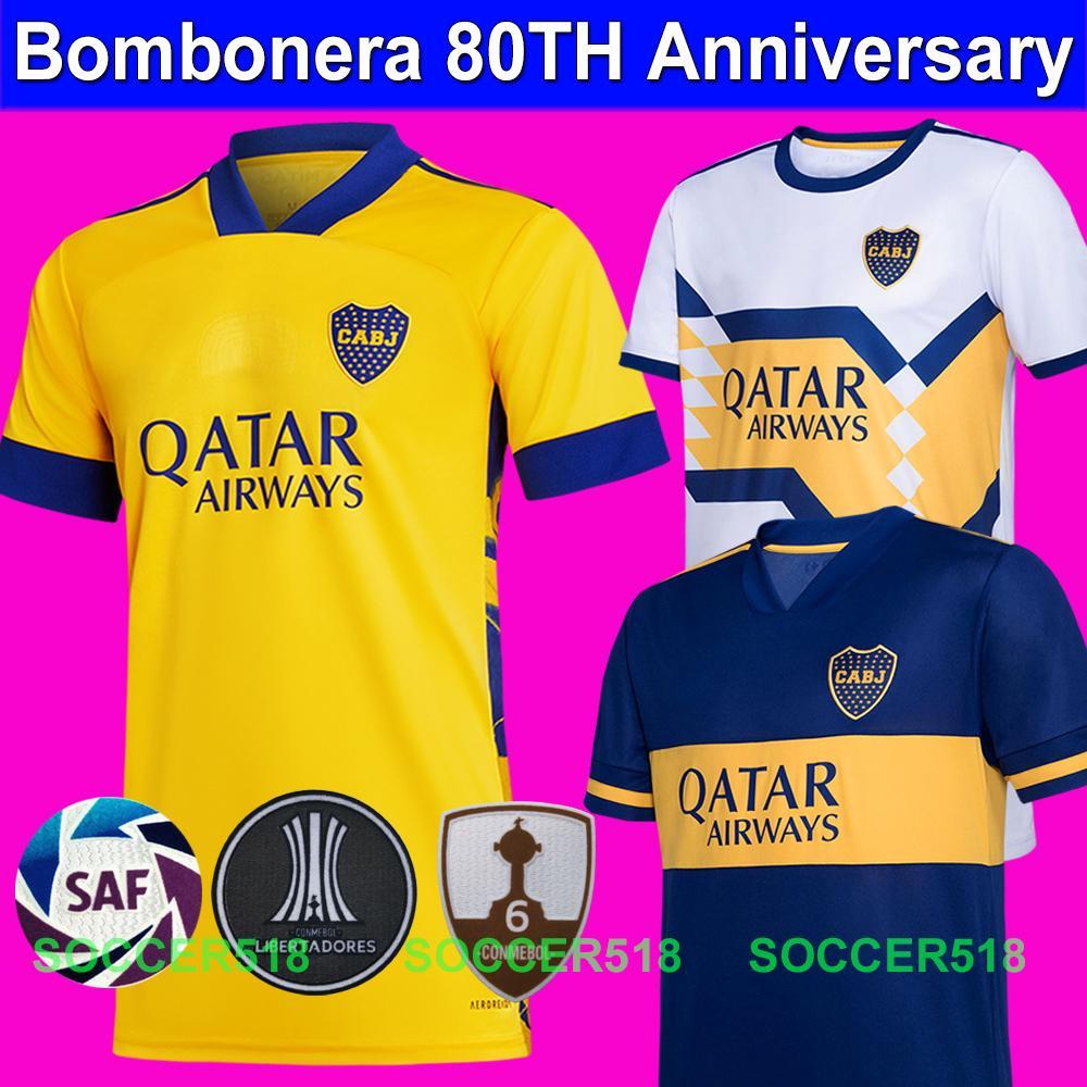 Бомбаура 80-летие 2020 202021 BOCA JUniors Tevez Maradona Mauro Reynoso Футбол Третий 3-й желтый футбол футболки для детей