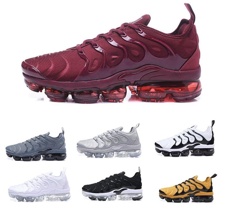 2019 saldi uomo max vapormax TN Plus Olive In Metallic White Silver Colorways Scarpe outdoor Uomo Donna Outdoor Triple TN Black airs Walking Shoes 40-45