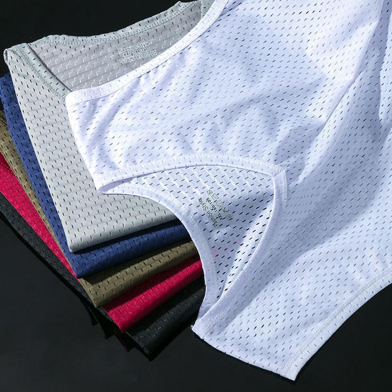 Homens Gelo Silk Tank Tops Underwear Mens Mensinho Transparente Camisas Masculinas BodyShaper Fitness Wrestling Malha Respirável Singlets