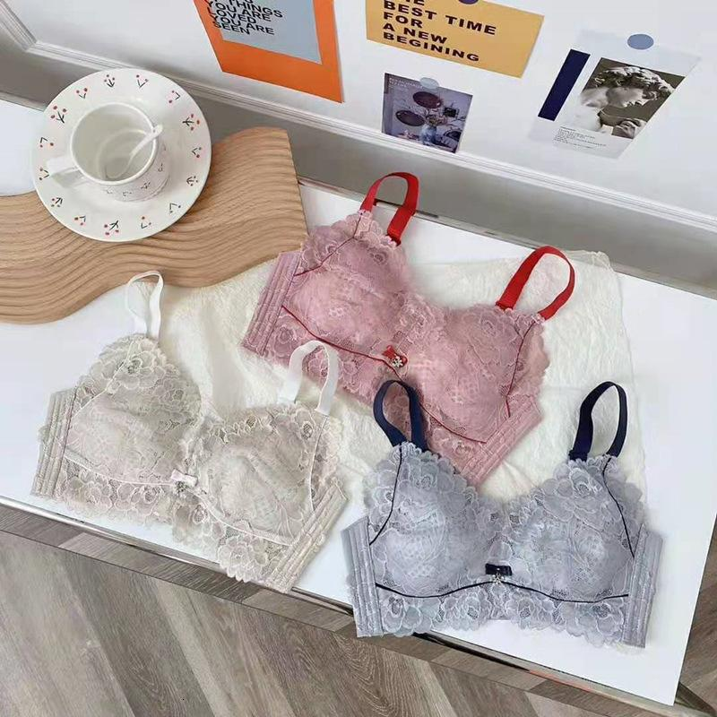 New Adjustable Full Cup Bra with Big Chest Small Size, Steel Ring Underwear, Women's Breast, Breathable and Comfortable, No Sponge