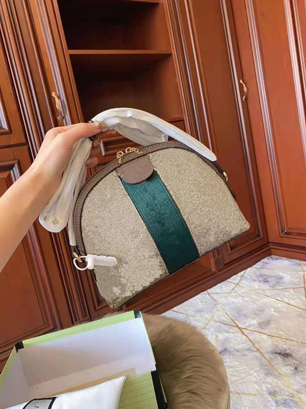 Neue Tote Handtasche Einzelner Umhängetasche Leinwand Dame Weibliche Tragen Conch Umhängetasche Druck Echtes Leder Kette Handtaschen Mode Taschen Afuqk