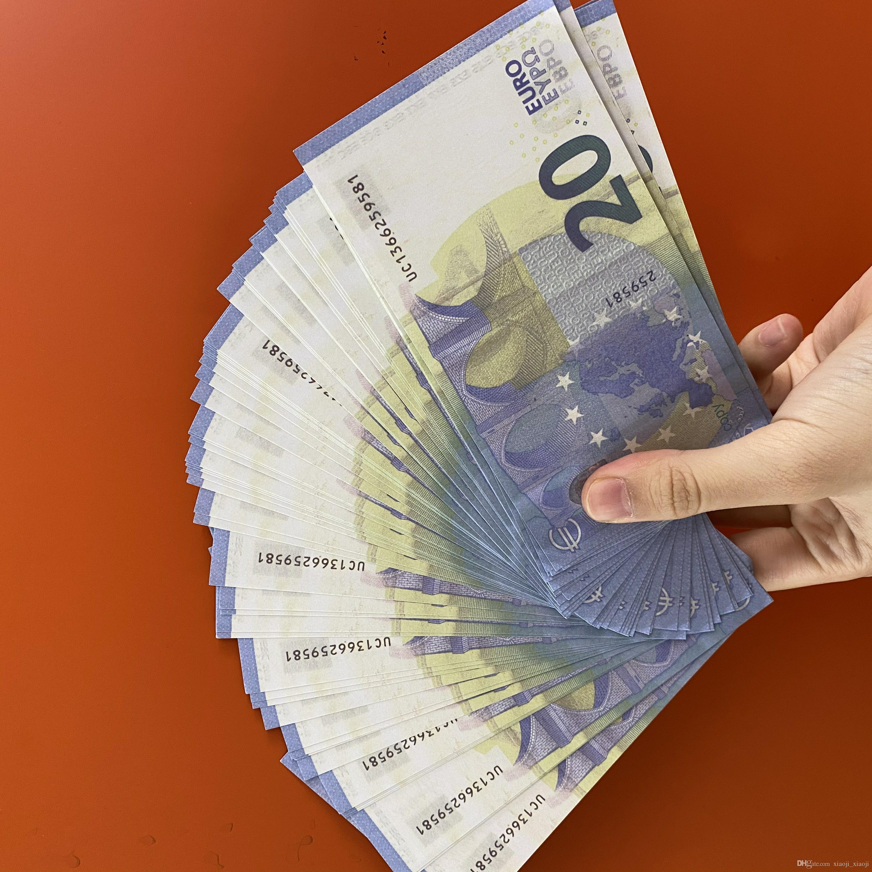 Heißgold-Prop-Kopie Geld Euro Verkauf gefälschter Banknoten-Papier 10/20/50 / 100/200 / 500 Euro Banknote Preis Banknoten-Taschen 09 Qbolx