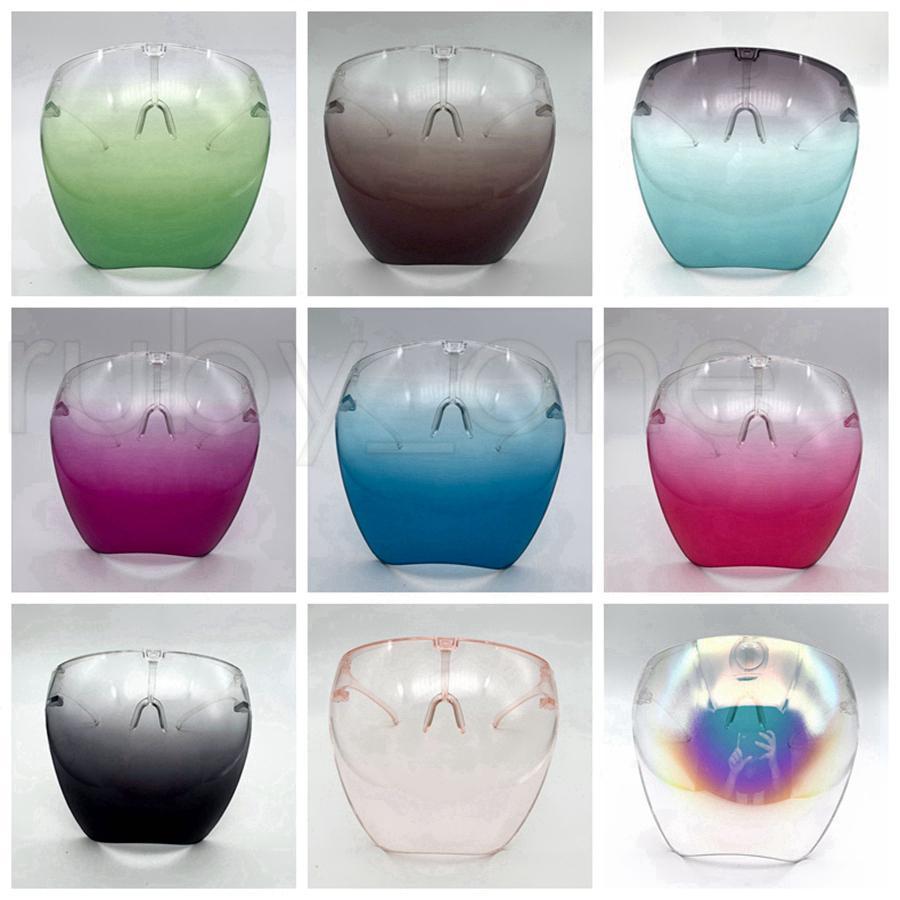 Sécurité Visière avec des lunettes cadre transparent facial Couverture de protection Masque anti-buée visage Clear Shield Masques Designer RRA3798