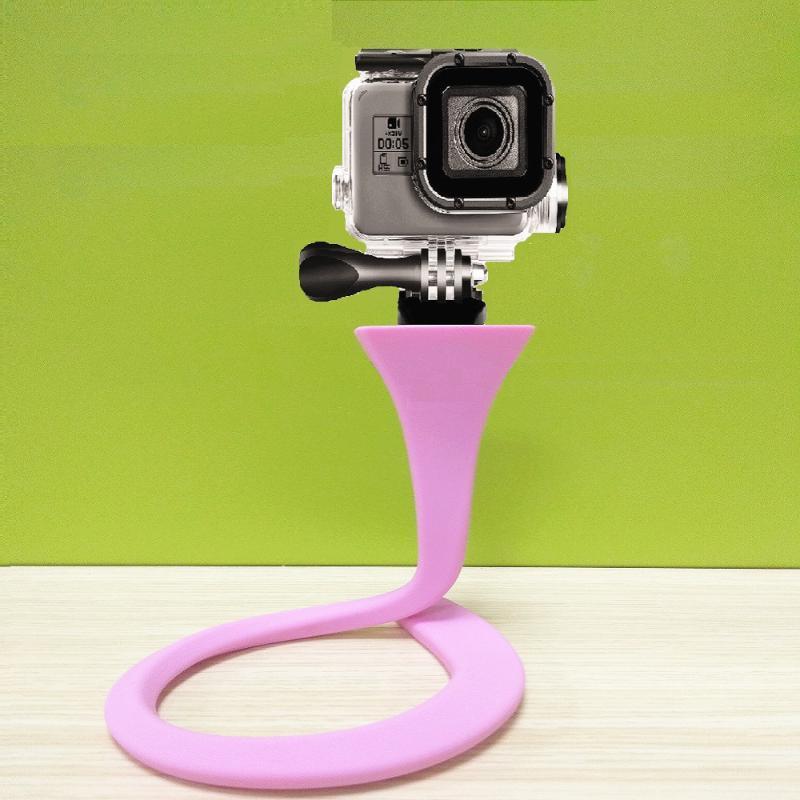 Flexível Sponge Octopus Mini tripé com Bluetooth Remote Shutter Para mini-tripé de câmera Suporte Phone Holder clipe