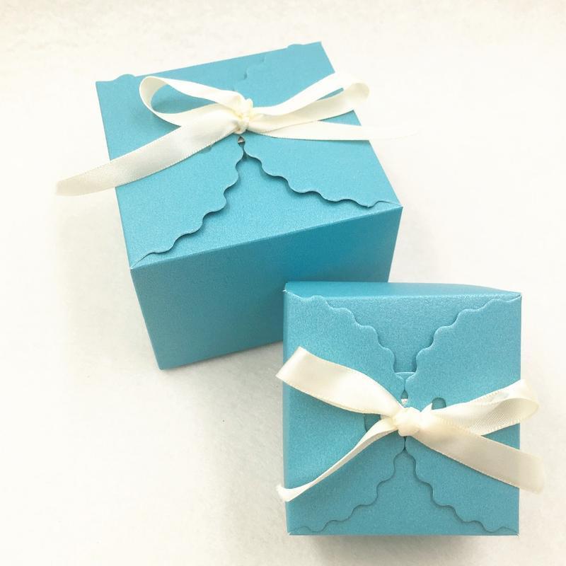 24pcs Papier Coloré Love De mariage Party Favors Boîtes-cadeaux, Boîte d'emballage artisanale + Ruban Gratuit, gâteaux à pâtisserie Cookies peut JLLJNA