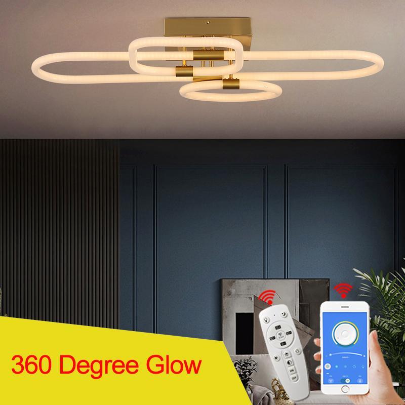 360 GLOW Yüzeye Monte Modern Aydınlatma Oturma Odası Yatak Odası Çalışma Altın Kaplama Tavan LED Avize Fikstür NXDN