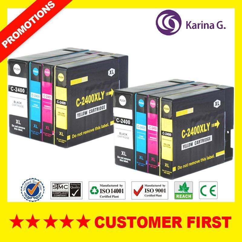 Canon PGI2400 PGI 2400 Kartuş için Uyumlu Mürekkep Kartuşları IB4040 IB4140 MB5040 MB5140 MB5340 MB5440 vb.