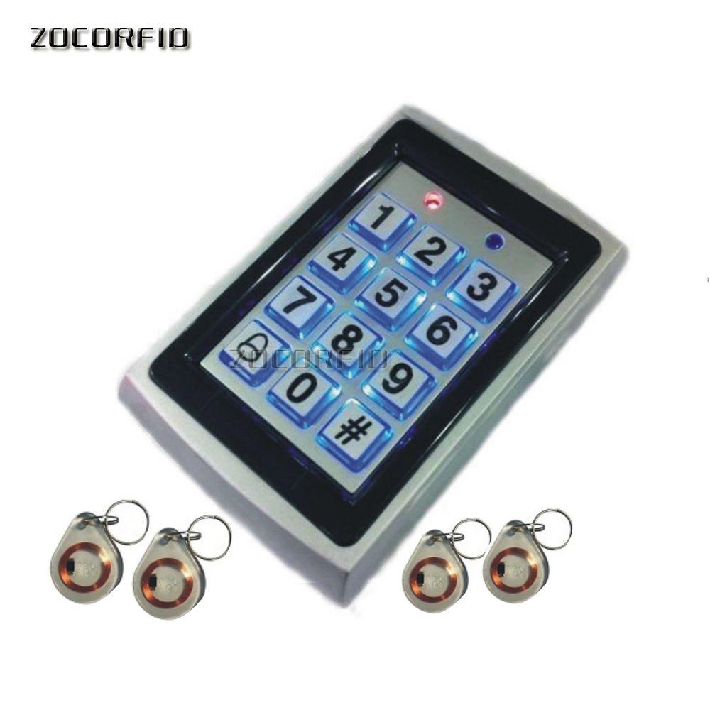 controle de acesso 125KHZ RFID / controlador de acesso / revestimento de aço inoxidável de design à prova d'água / + 10 pcs cartão chave