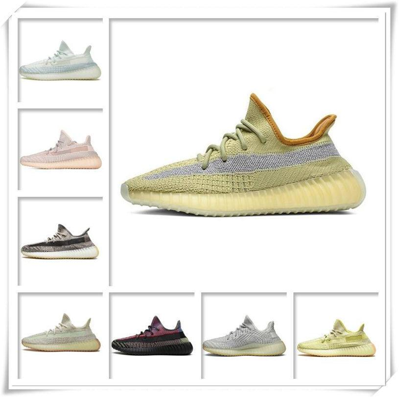 Mens Womens Sports Shoes 2021 Kanye West Ash-Stone Sun FASHION WHOLESALE Light Reflective Casual Cheap Sneakers Inline Shoe Size 36-48