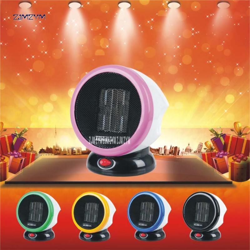 20pcs casa PTC riscaldamento portatile Ceramiche personali stufa elettrica 220V 500W Inverno caldo mini desktop termoventilatore NSB-08 nero / colore rosa