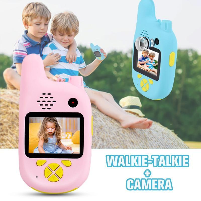 Walkie Talkie Kids Jouets drôles avec caméra caméscope HD Mini vidéo Lecteur MP3 interactif jeu Cadeau d'enfants électroniques