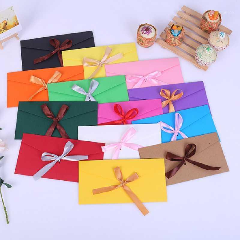100 pcs 22x11cm de alta qualidade fita pérola envelope de papel diy casamento convite convite envelopes presentes envelope 12 cores1