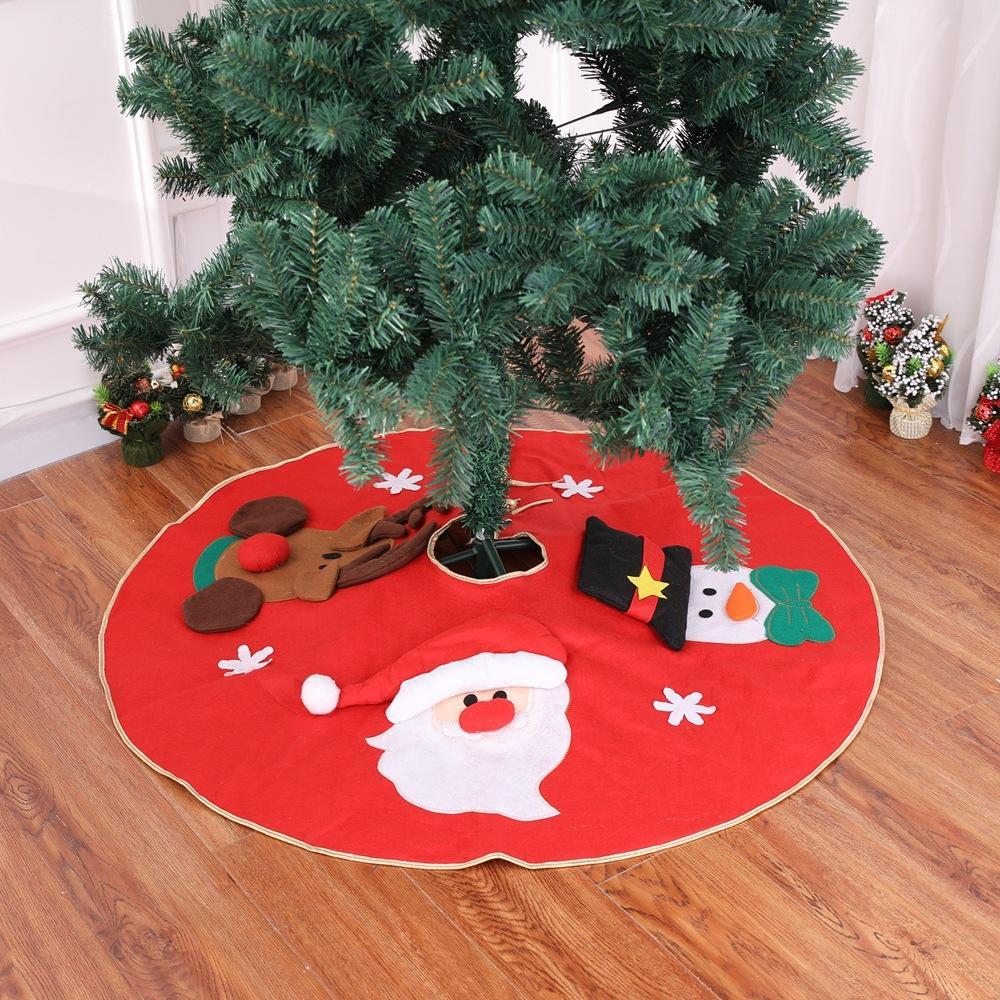 Ev Natal Ağacı Etekler Yılbaşı Dekorasyon Kırmızı Noel Santa Elk için Ağacı Kürk Halı Merry Christmas Dekorasyon