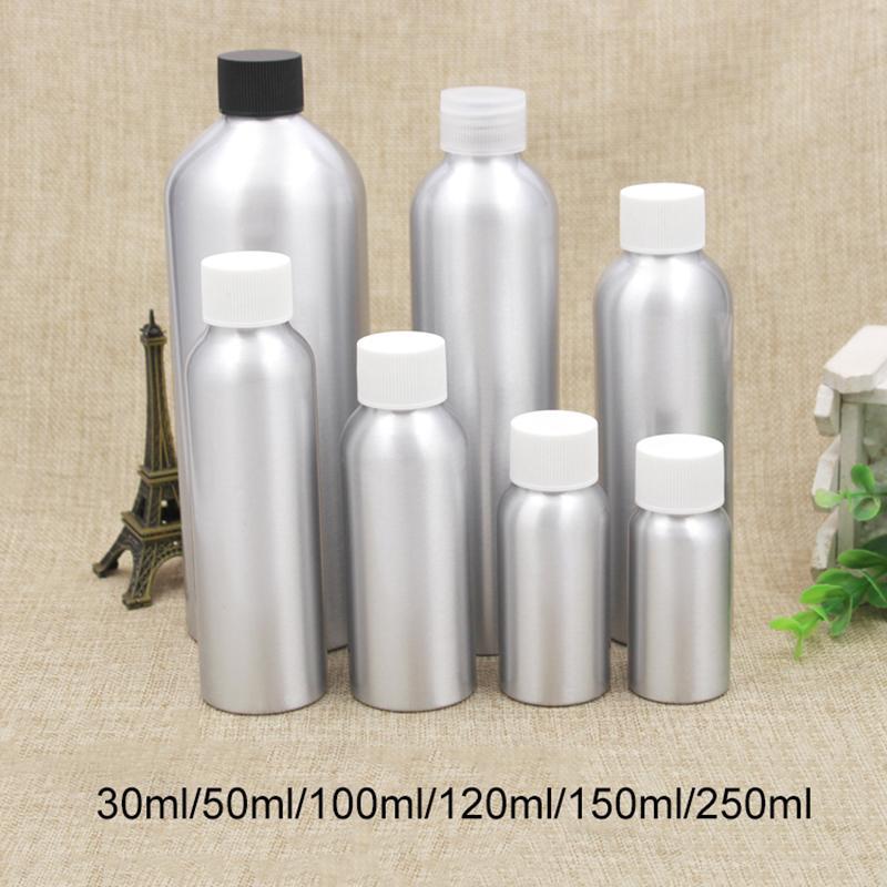 30 мл 50 мл 100 мл 120 мл 150 мл 250 мл Серебро Алюминий бутылки Пусто Косметическая вода Тонеры Упаковка Металлические контейнеры