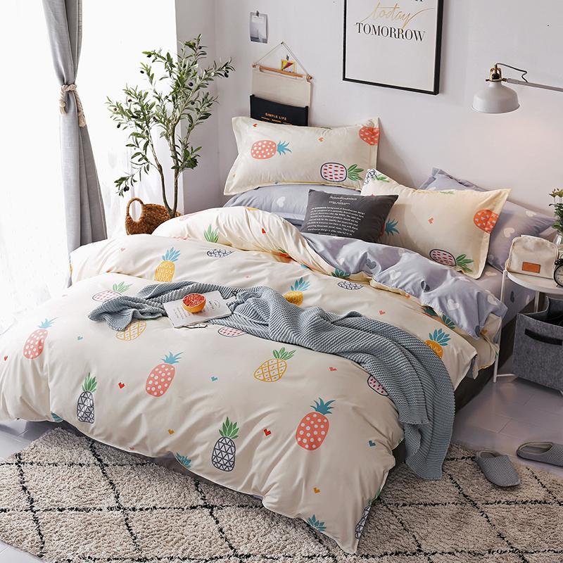 3 / 4ST Home Textile einfache Art und Weise Bettwäsche-Sets Schlafzimmer Beddingset Bettwäsche Bettbezug Bettlaken Pillowcase / Bett-Sets C1018