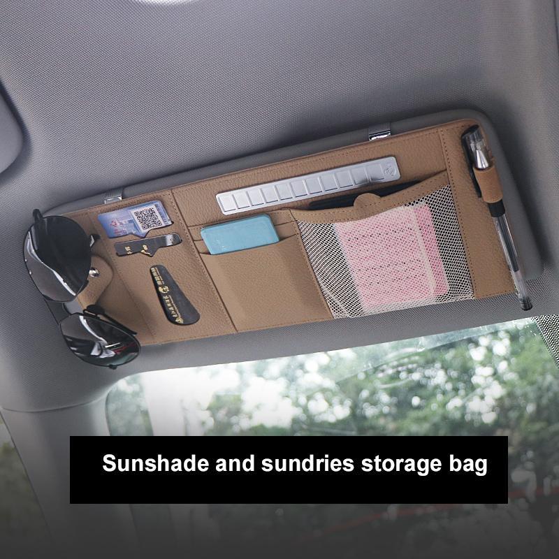 Автомобиль Sunblock Bill Pen Визитная карточка Держатель Visor CD DVD Case Организатор Opbergbox Солнцезащитные очки Зажим Клип Уборка Автомобильные аксессуары
