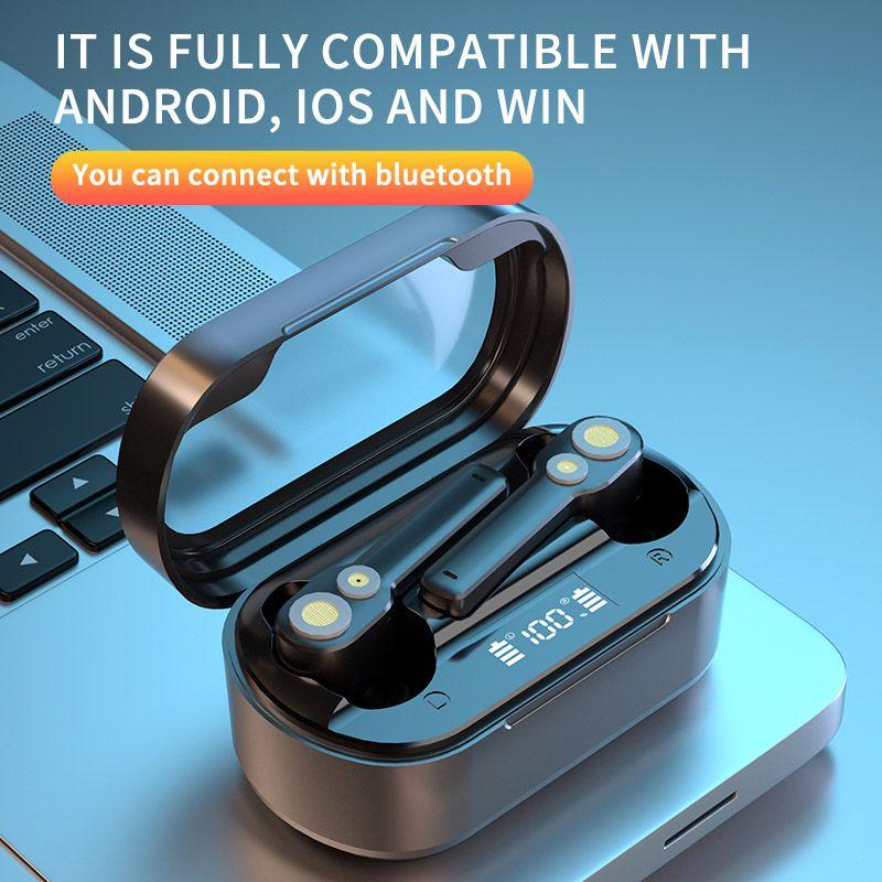 D18 TWS Беспроводные наушники Bluetooth Earbuds V5.0 Стерео Гарнитура Сенсорный контроль Спортивная гарнитура IPX6 Водонепроницаемый шум ОТМЕНА Наушники