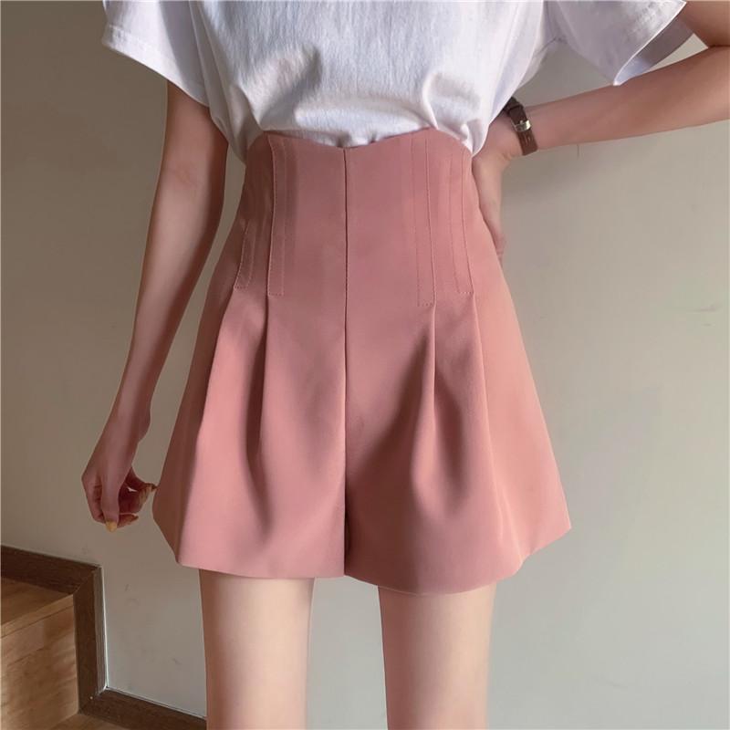 Hohe Taille Chiffon Feste Frauen Shorts 2020 Sommer Neue Plissee A-Line Sexy Mini Büro Dame Elegante Shorts Top Qualität