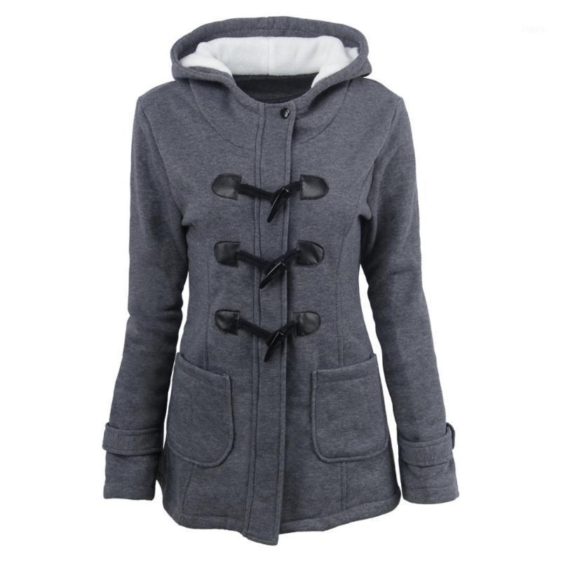 2019 mujeres abrigo largas chaquetas invierno otoño algodón cremallera con sombrero grueso casual Outwear para lady bolsets más tamaño 6xl1