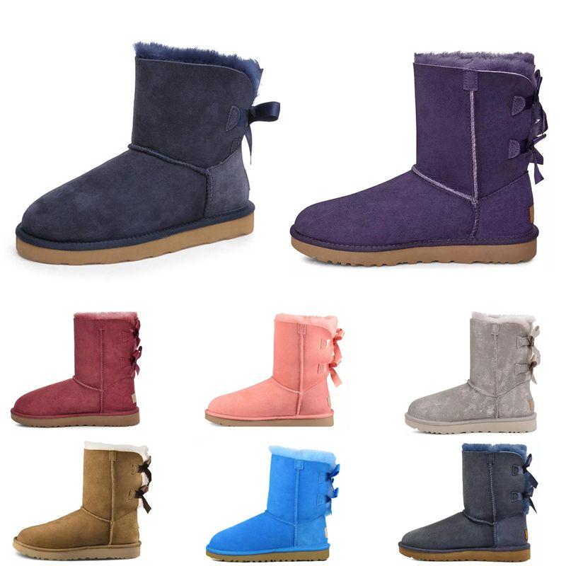 2021  ugg uggs ugglis Moda Avustralya Wgg Kadınlar Platformu Tasarımcı Bayan Motorccle Boot Kızlar Lady Bailey Yay Kış Kürk Kar Yarım Diz Kısa Çizmeler 3 A4FN #