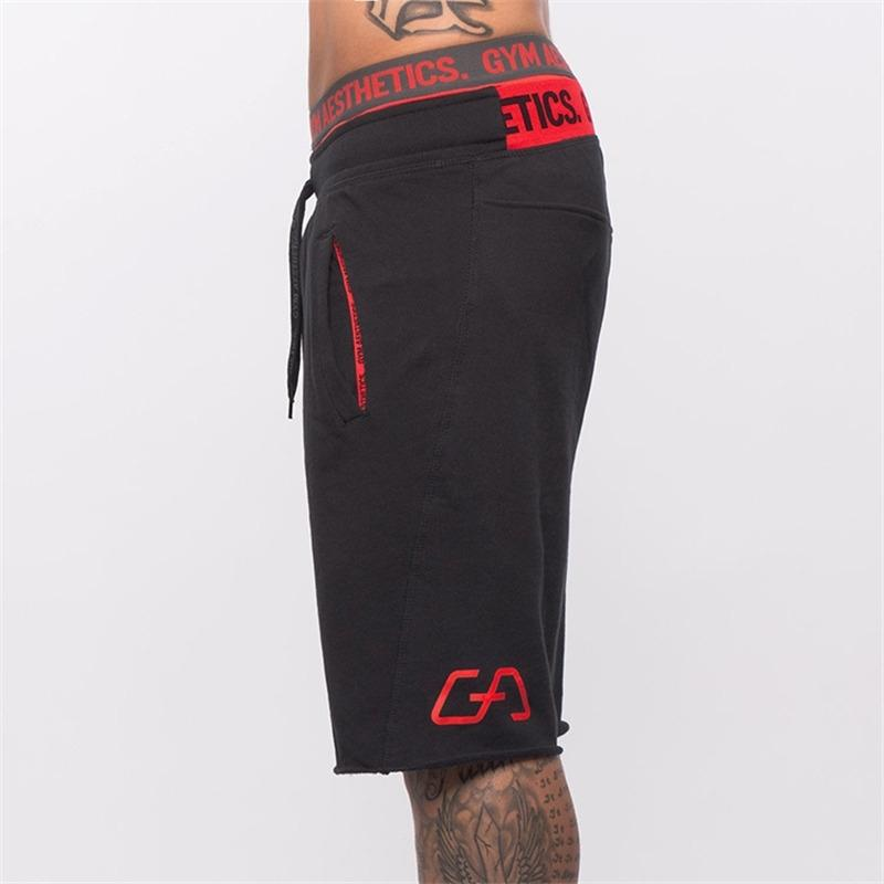 Shorts de algodón para hombre gimnasios de la pantorrilla gimnasio fitness culturismo casual joggers entrenamiento marca deportes pantalones cortos pantalones deportivos ropa deportiva y200108