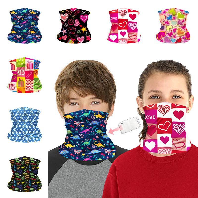 Доставка DHL Бандана с фильтром для детей Дети Защитная магия шарф Мягкий шеи Gaiter для УФ-защита Спорт Face Покрытие Kimter-B80F