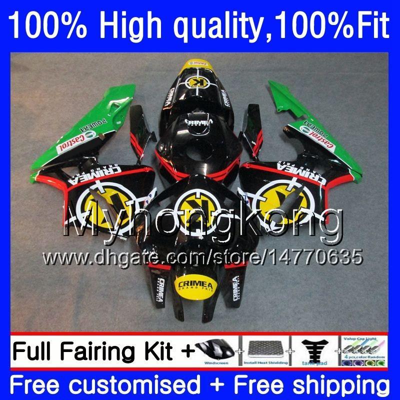 Injection OEM pour HONDA CBR 600RR CBR600F5 600F5 600CC 2005 2006 48HM.54 noir vert CBR600RR CBR600 RR CBR 600 RR CC F5 05 06 Carénage Kit