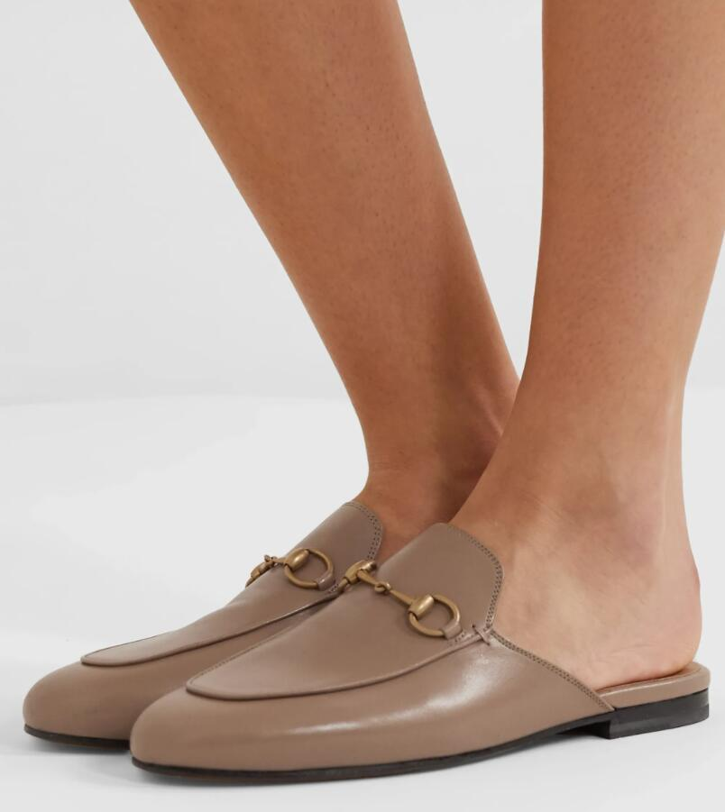 Moda princetown terlik sandalet erkekler kadınlar horsbit ev slayt düz açık plaj slaytlar yuvarlak ayak casual-serin yürüyüş ayakkabıları
